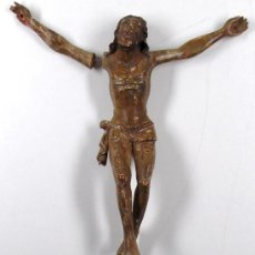 Arte: CRISTO DE TALLA SIGLO XVIII. TAMAÑO: 22 CM .DE LARGO. . Lote 22036994