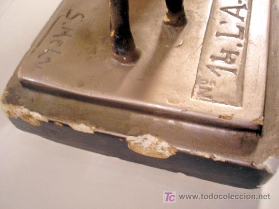 Arte: Figura art deco firmada y numerada. Mujer con corderito ver fotos detalles - Foto 6 - 25964372