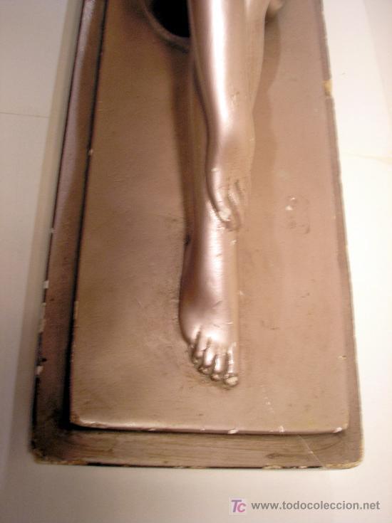 Arte: Figura art deco firmada y numerada. Mujer con corderito ver fotos detalles - Foto 15 - 25964372