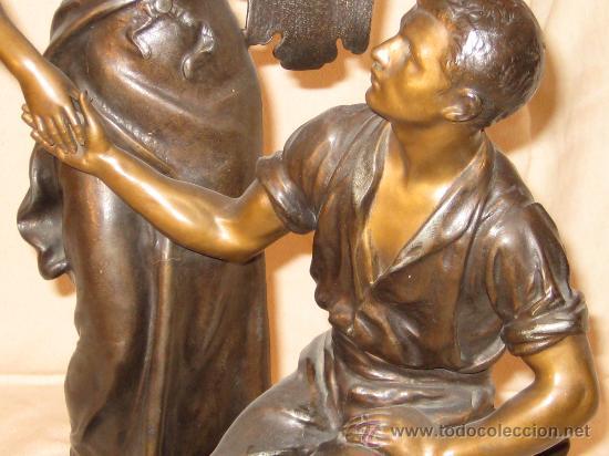 Arte: Escultura en calamina firmada de principios del siglo XX - Foto 4 - 26398905