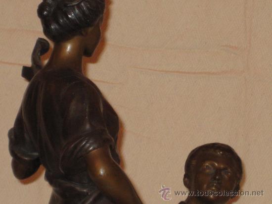 Arte: Escultura en calamina firmada de principios del siglo XX - Foto 5 - 26398905