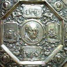 Arte: FRANCISCO GOYA (1746-1828). METAL PLATEADO. OCTOGONAL. S. XIX. 55 CM.. Lote 27388916