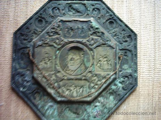 Arte: FRANCISCO GOYA (1746-1828). METAL PLATEADO. OCTOGONAL. S. XIX. 55 Cm. - Foto 3 - 27388916