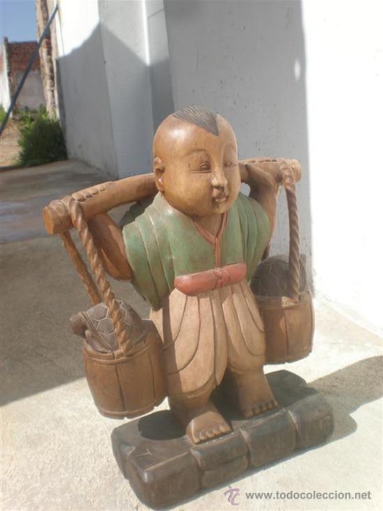 Arte: talla de figura oriental - Foto 2 - 25994042