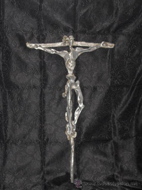 Arte: Escultura aluminio o peltre Original Cristo daliniano 86 cm altura firma González título Kenosis - Foto 2 - 26811567