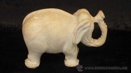 Arte: Precioso elefante de marmol esculpido a mano. Años 50s. - Foto 4 - 28050436
