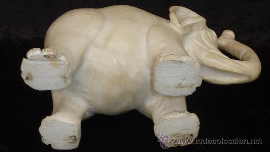 Arte: Precioso elefante de marmol esculpido a mano. Años 50s. - Foto 6 - 28050436