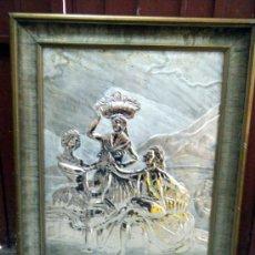 Arte: RELIEVE METAL PLATEADO FINALES S.XIX - PPIOS. S.XX VENDIMIA. GOYA. Lote 30276807