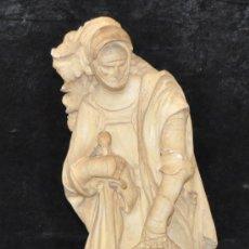 Arte: ANTONI PARERA SAURINA (1868-1946) ESCENA DEL MARTIRIO. FIGURAS EN ESCAYOLA FIRMADA. 73 CM. ALTURA. Lote 32293081