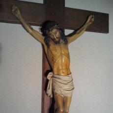 Arte: CRISTO EN LA CRUZ. ESTUCO POLICROMADO. Lote 33255535