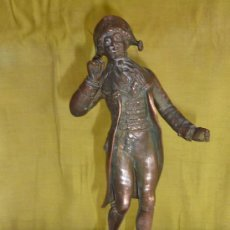Arte: ESCULTURA DE FIGURA TITULADA SORTIE DE BAL PAR ELIUS. EN CALAMINA, SOBRE MARMOL.. Lote 33642381