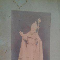 Arte: CA.1887 FOTOGRAFIA ESCULTUR OBISPO ARMANYÀ. MANUEL FUXA DEDICAT AUTOGRAFA 44X28 VILANOVA I LA GELTRU. Lote 33672824