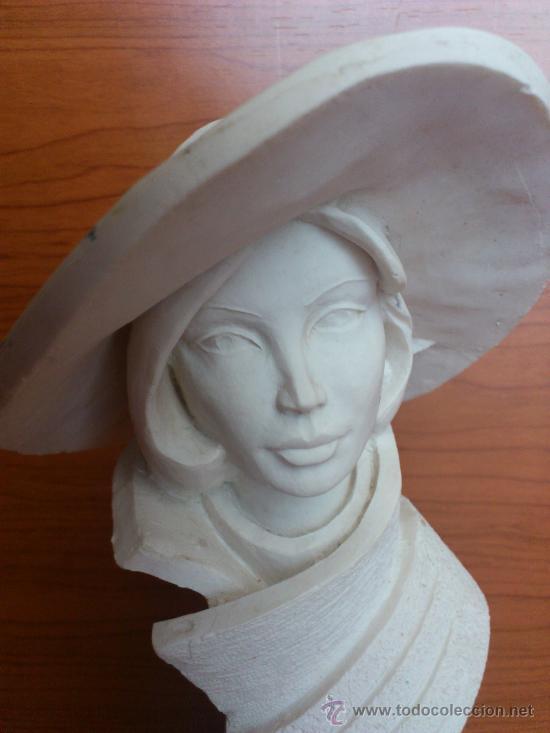Arte: Busto vintage de elegante señora con pamela estilo art decó . - Foto 5 - 43419666