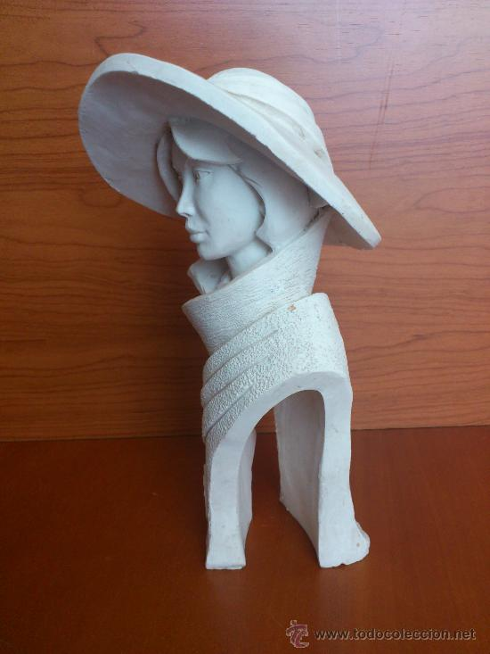Arte: Busto vintage de elegante señora con pamela estilo art decó . - Foto 4 - 43419666