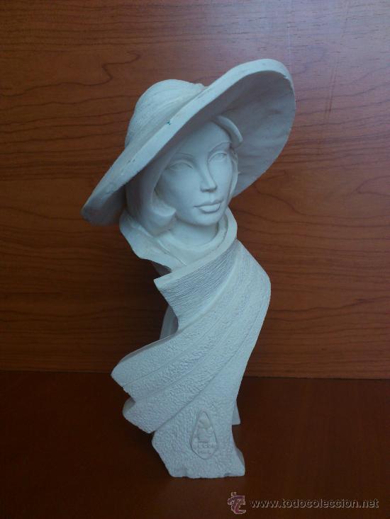 Arte: Busto vintage de elegante señora con pamela estilo art decó . - Foto 7 - 43419666