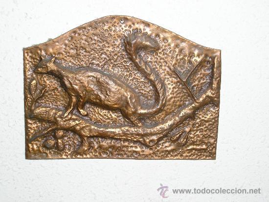 seis cuadros de animales en cobre trabajo cinc - Comprar en ...