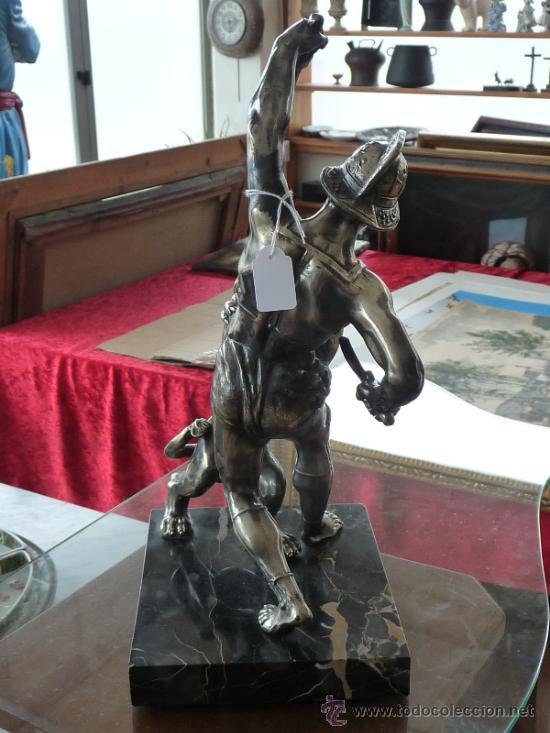 Arte: Gran escultura recubierta de estaño, años 40 - Foto 8 - 37243336