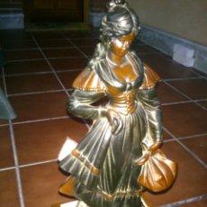 Arte: ESCULTURA CLASICA MOLDEADA A MANO.ARTESANIAS AURREGUI.23X23CM,ALTO;59CM.. Lote 40170287