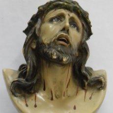 Arte: SANTO CRISTO DE LIMPIAS,PASTA E.C.R MADERA,OJOS DE CRISTAL,AÑOS 40 O 50. Lote 85370300