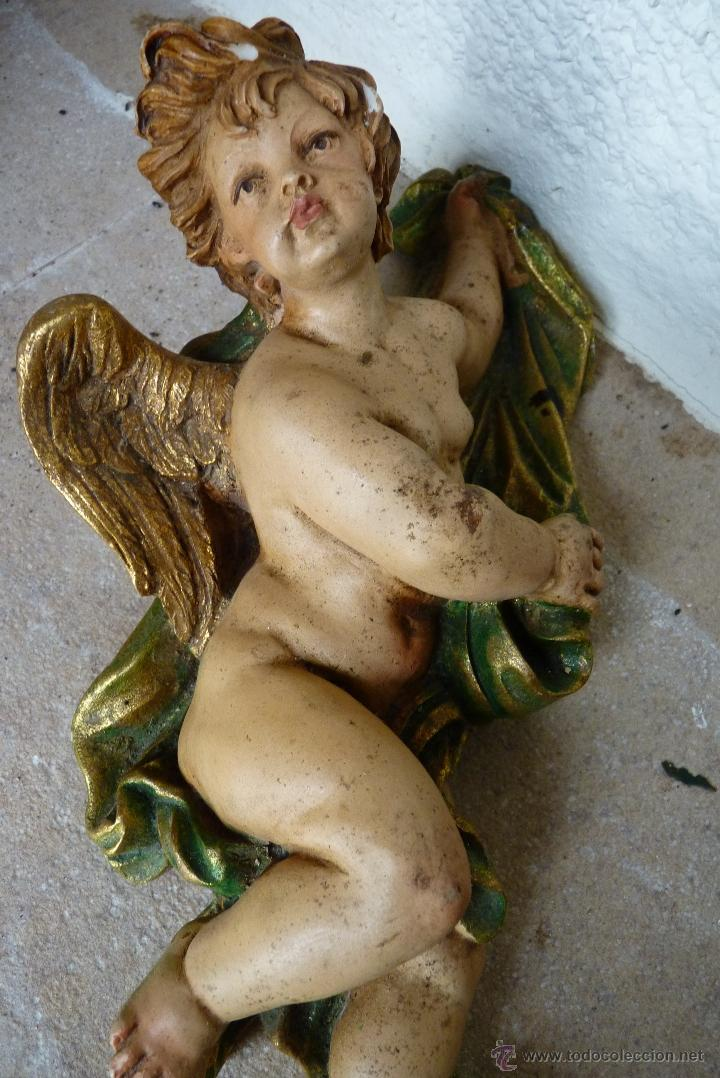 PRECIOSO ANGEL DE MARMOLINA, ANTIGUO (Arte - Escultura - Otros Materiales)