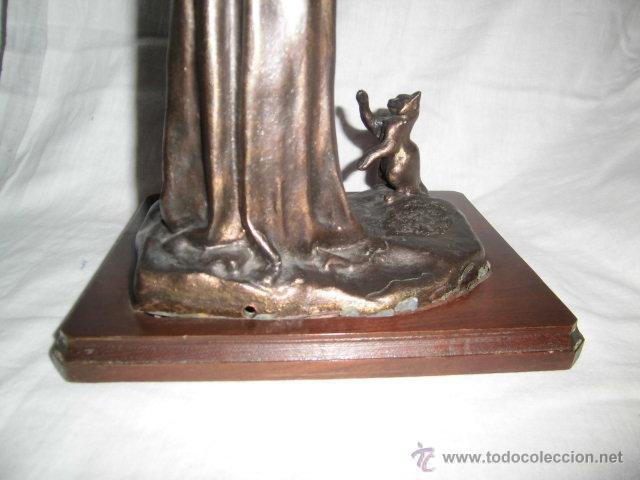 Arte: ANTIGUA FIGURA NIÑA CON GATO FIRMADA SCOLLE FRANCIA - Foto 14 - 43977273
