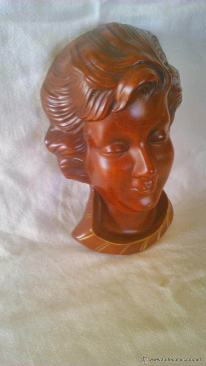 MASCARA BUSTO DE PASTA MUY DURA. WANDMASKE GOEBEL 1959 SCHAUBACH HUMMELWERKE MAI 627 (Arte - Escultura - Otros Materiales)