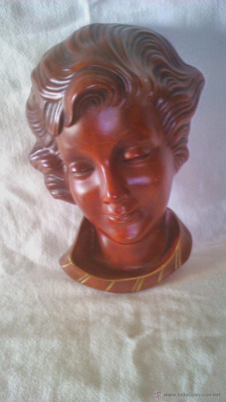 Arte: Mascara busto de pasta muy dura. Wandmaske Goebel 1959 Schaubach Hummelwerke Mai 627 - Foto 2 - 44058844