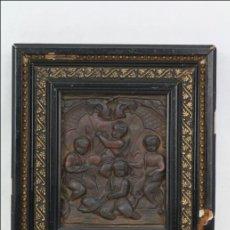 Arte: RELIEVE EN METAL CON ESCENA DE NIÑOS RODEADOS DE VEGETACIÓN - PRINCIPIOS DEL SIGLO XX - 20 X 18 CM. Lote 46090752