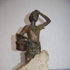 Arte: - LABRADORA - ESCULTURA CONTEMPORÁNEA FIRMADA L.M. LAFUENTE. Lote 48262730
