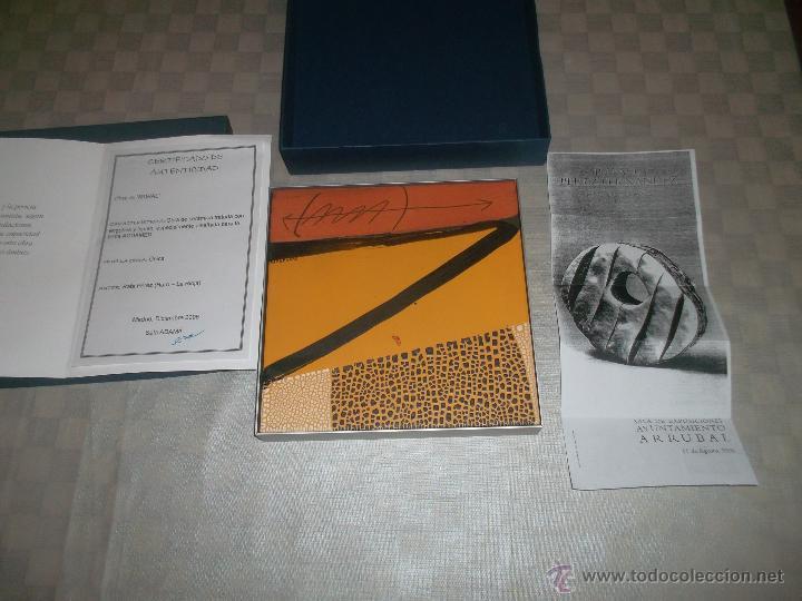 Arte: bonita obra de rafael perez fernandez firmada pieza unica - Foto 2 - 49085366