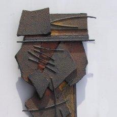 Arte: BELLA OBRA ABSTRACTA DE GRAN RELIEVE .AUTOR JOSE SANZ SALA. ( 2015 ). Lote 49228805
