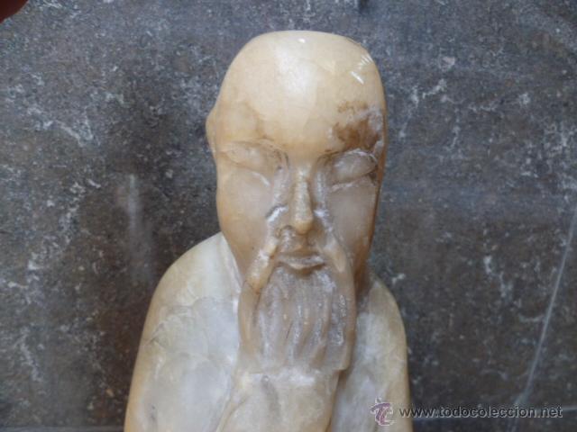 Arte: Preciosa antigüa estatua asiática de marmol de 50 cm. (ver fotos) - Foto 2 - 49487935
