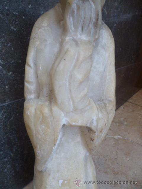 Arte: Preciosa antigüa estatua asiática de marmol de 50 cm. (ver fotos) - Foto 4 - 49487935