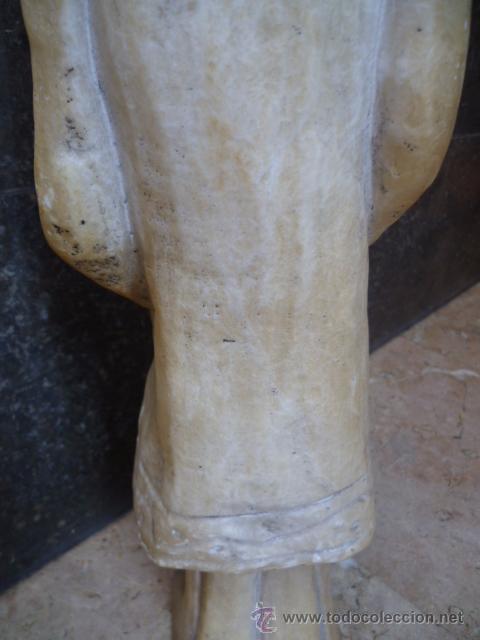 Arte: Preciosa antigüa estatua asiática de marmol de 50 cm. (ver fotos) - Foto 9 - 49487935