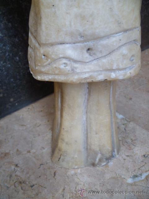 Arte: Preciosa antigüa estatua asiática de marmol de 50 cm. (ver fotos) - Foto 10 - 49487935