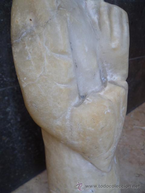Arte: Preciosa antigüa estatua asiática de marmol de 50 cm. (ver fotos) - Foto 12 - 49487935