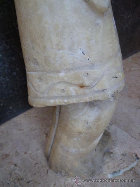 Arte: Preciosa antigüa estatua asiática de marmol de 50 cm. (ver fotos) - Foto 13 - 49487935