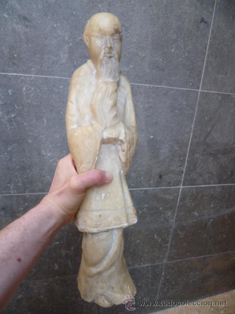 Arte: Preciosa antigüa estatua asiática de marmol de 50 cm. (ver fotos) - Foto 15 - 49487935