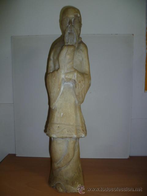 Arte: Preciosa antigüa estatua asiática de marmol de 50 cm. (ver fotos) - Foto 16 - 49487935