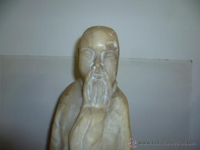 Arte: Preciosa antigüa estatua asiática de marmol de 50 cm. (ver fotos) - Foto 17 - 49487935