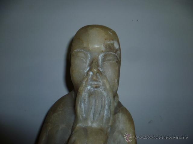 Arte: Preciosa antigüa estatua asiática de marmol de 50 cm. (ver fotos) - Foto 18 - 49487935