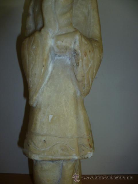 Arte: Preciosa antigüa estatua asiática de marmol de 50 cm. (ver fotos) - Foto 19 - 49487935