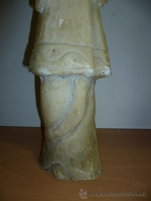 Arte: Preciosa antigüa estatua asiática de marmol de 50 cm. (ver fotos) - Foto 20 - 49487935