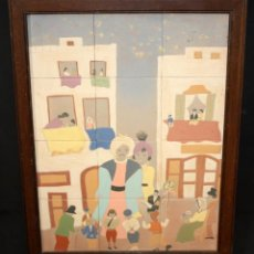 Arte: QUIMETA SERRA (SANT FELIU DE GUÍXOLS, GIRONA, 1928) PLAFÓN EN GRES FIRMADO. ELS GEGANTS. Lote 49757957