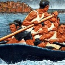 Arte: MURAL HECHO A MANO DE BARRO COCIDO Y ESMALTADO DEL ARTISTA JUANJO REVUELTA. Lote 54097012