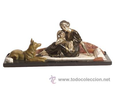 ESCULTURA-ART-DECO (Arte - Escultura - Otros Materiales)