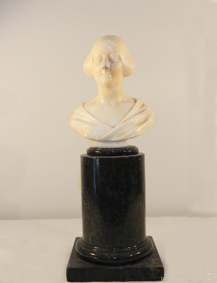 BUSTO DE CABINET DE MÁRMOL. GIOVANNI INSOM.CA.1840 (Arte - Escultura - Otros Materiales)