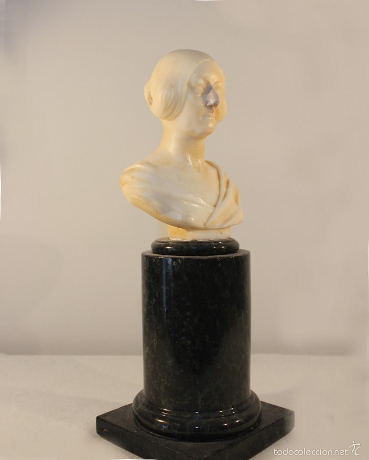 Arte: Busto de cabinet de mármol. Giovanni Insom.ca.1840 - Foto 2 - 57684279