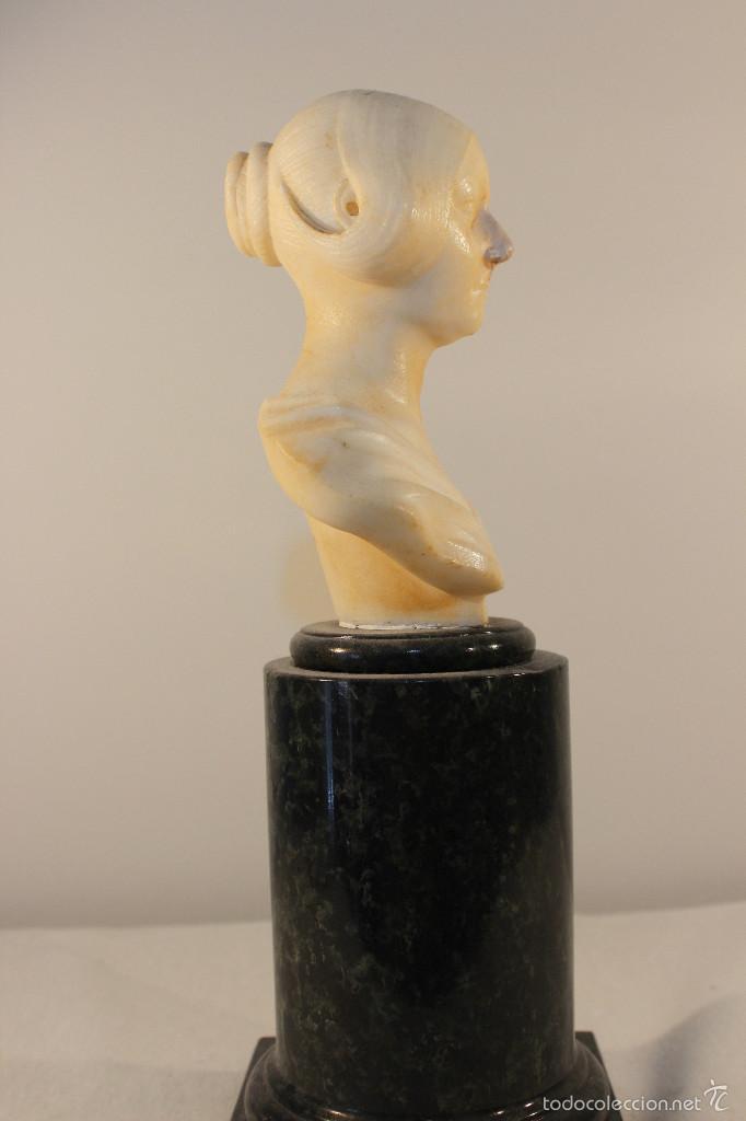 Arte: Busto de cabinet de mármol. Giovanni Insom.ca.1840 - Foto 3 - 57684279