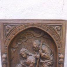 Arte: CUADRO EN RELIEVE CON LA VIRGEN SAN JOSÉ Y NIÑO JESÚS SIGUIENDO MODELO DEL S XVI. Lote 61703532